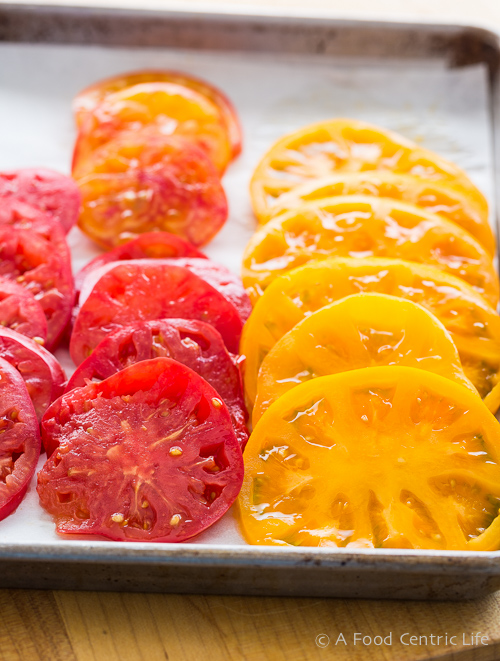 sliced heirloom tomatoes|AFoodCentricLife.com