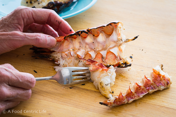 shelling lobster tail|AFoodCentricLife.com