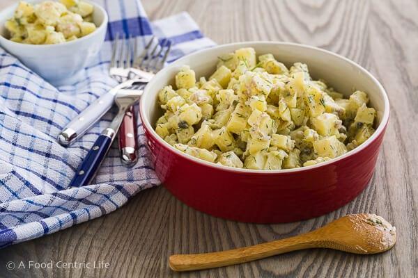 mediterranean potato salad|AFoodCentricLife.com