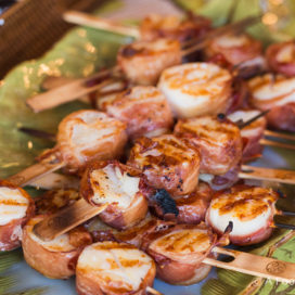grilled scallops wrapped in prosciutto | afoodcentriclife.com
