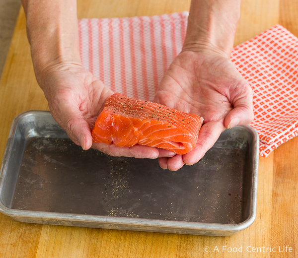 folded salmon filet|AFoodCentricLife.com