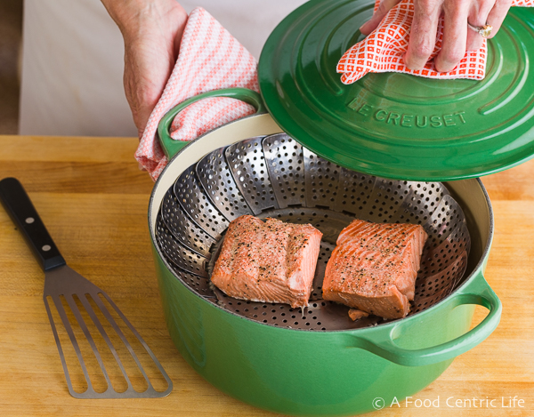 How to steam Salmon | AFoodCentriclIfe.com