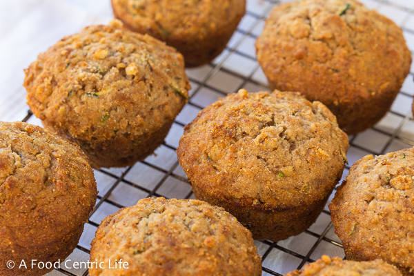 Zucchini Applesauce Muffins|AFoodCentricLife.com