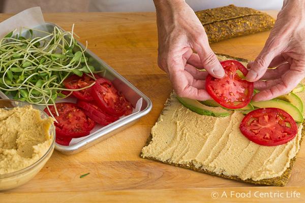 Avocado Hummus Wraps|AFoodCentricLife.com