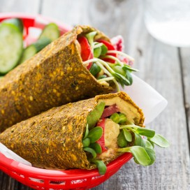 Avocado Hummus Wraps