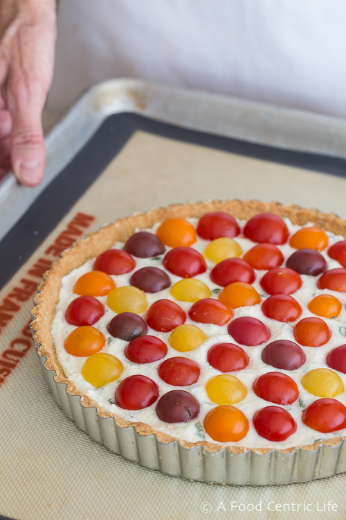 cherry tomato tart|AFoodCentricLIfe.com