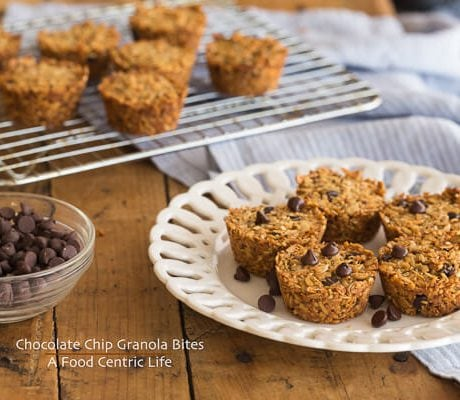 Chocolate Chip Granola Bites | AFoodCentricLife.com