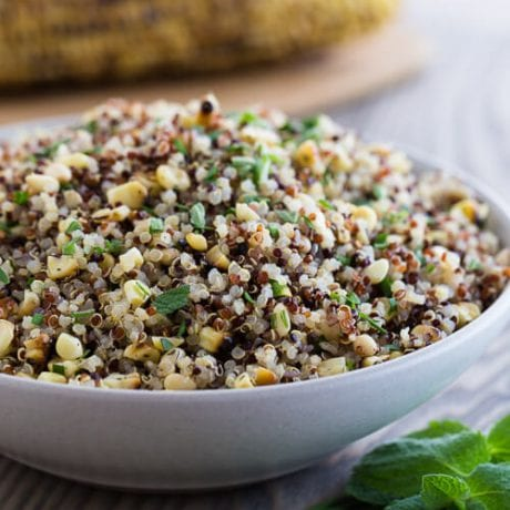 Grilled Corn and Quinoa Salad | AFoodCentricLife.com