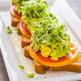 Heirloom Tomato and Avocado Toasts