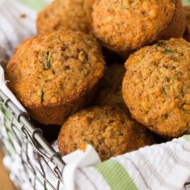 Zucchini Applesauce Muffins | AFoodCentricLife.com