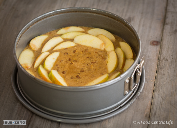 layering apples for a cake | AFoodCentricLife.com