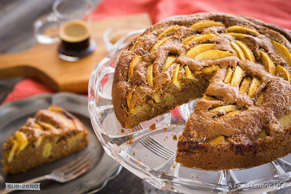 Apple Pecan Coffee Cake|AFoodCentricLife.com
