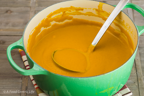 Curried Butternut Carrot Soup | AFoodCentricLife.com