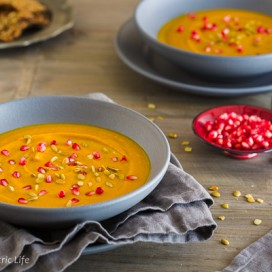 Curried Butternut Carrot Soup|AFoodCentricLife.com