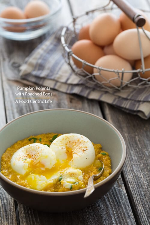 Pumpkin Polenta with Poached Eggs-2695|AFoodCentriclLife.com