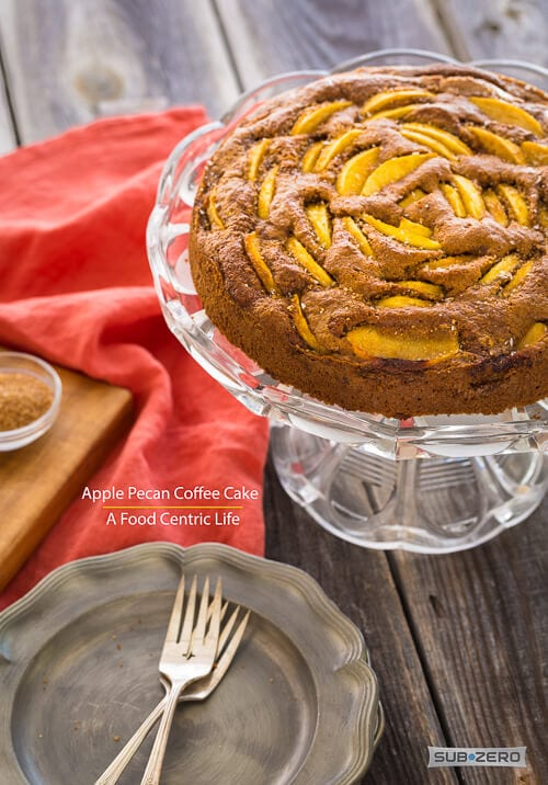 Apple Pecan Coffee Cake | AFoodCentricLife.com