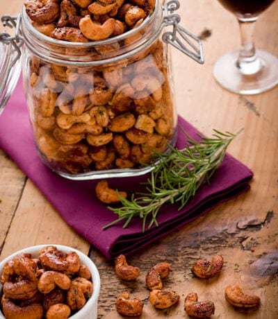 Maple Rosemary Cashews | AFoodCentricLife.com