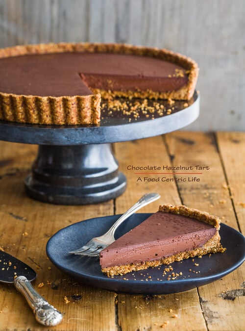 chocolate hazelnut tart   AFoodCentricLife.com