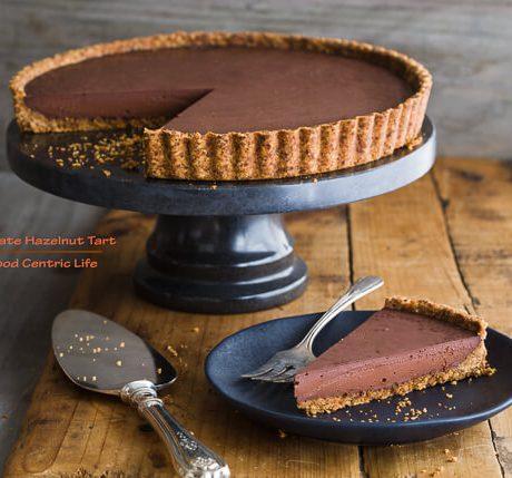 Chocolate Hazelnut Tart|AFoodCentricLife.com