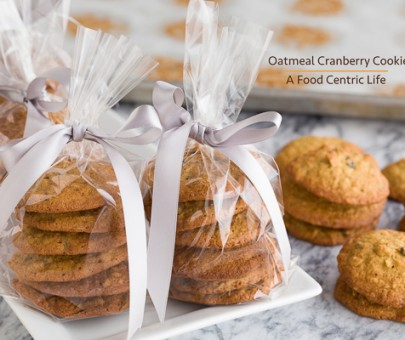 Oatmeal Cranberry Cookies|AFoodCentricLife.com