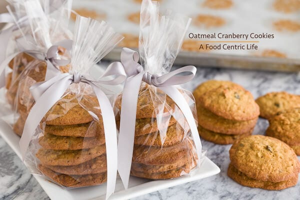 Oatmeal Cranberry Cookies | AFoodCentricLife.com