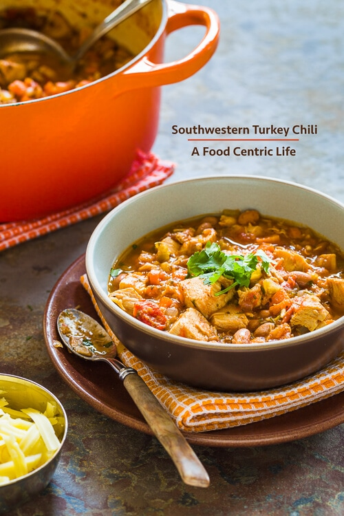 Southwestern Turkey Chili | AFoodCentricLife.com