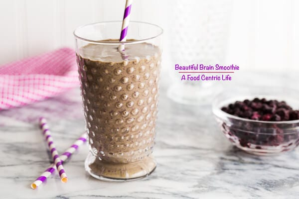 Blueberry Brain Smoothie | AFoodCentricLife.com