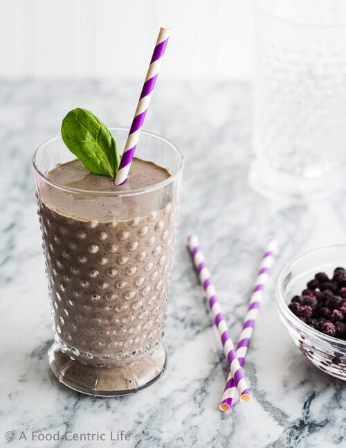Blueberry Brain Smoothie|AFoodCentricLife.com