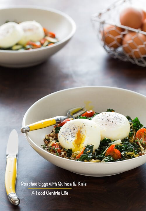 Poached Eggs with Quinoa and Kale | AFoodCentriclife.com
