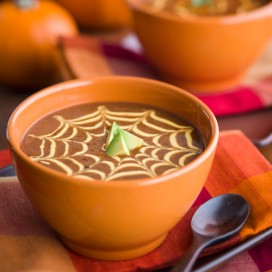 Black Bean Pumpkin Soup|AFoodCentricLife.com