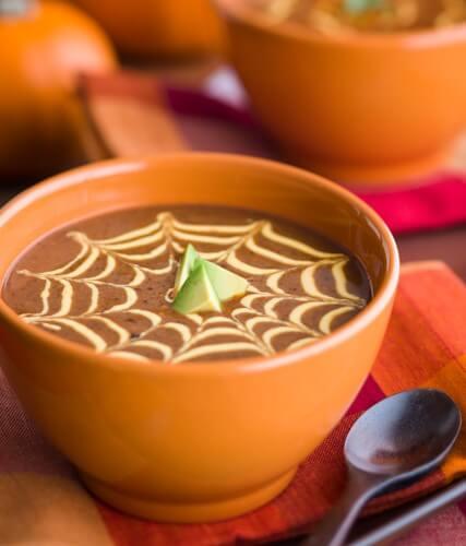 Black Bean Pumpkin Soup|AFoodCentricLife.com