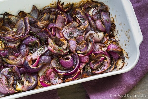 Caramelized Sweet Red Onions|AFoodCentricLife.com