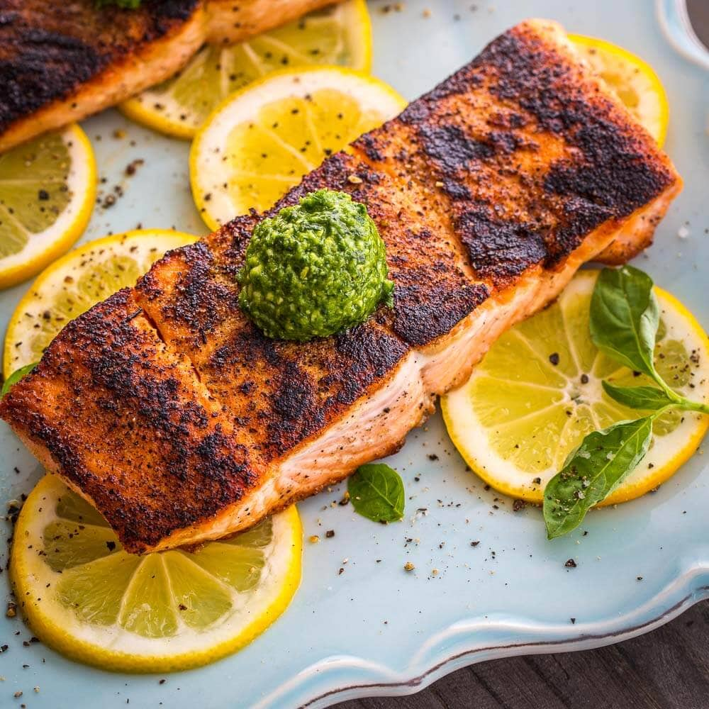Seared Salmon | AFoodCentricLife.com