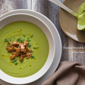 Cream of Broccoli and Sausage Soup|AFoodCentricLife.com