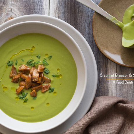 Cream of Broccoli and Sausage Soup |AFoodCentricLife.com