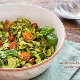 Zucchini Ribbon Salad|AFoodCentricLife.com