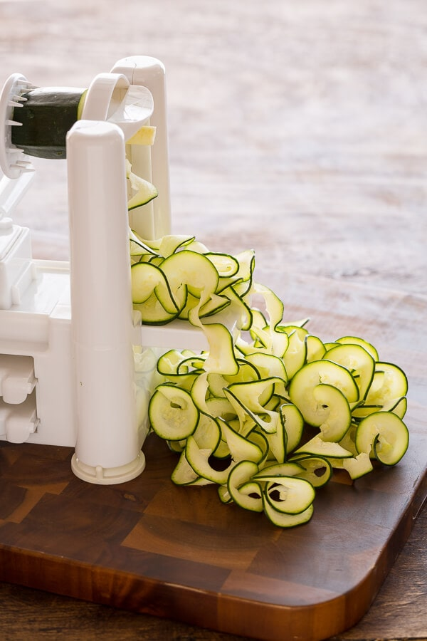 Zucchini Pesto Ribbon Salad|AFoodCentricLife.com