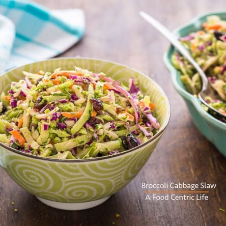 Broccoli Cabbage Slaw | AFoodCentricLife.com