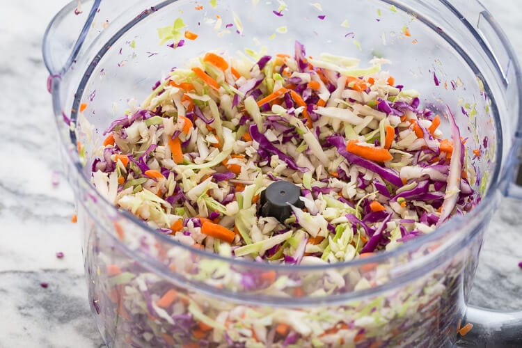 Broccoli cabbae slaw|AFoodCentricLife.com