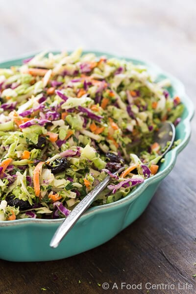 Broccoli Cabbage Slaw|AFoodCentricLife.com