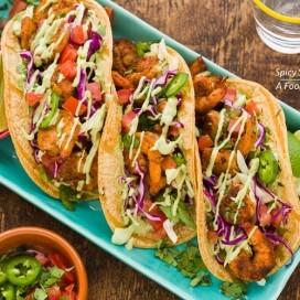 Spicy Shrimp Tacos|AFoodCentricLife.com