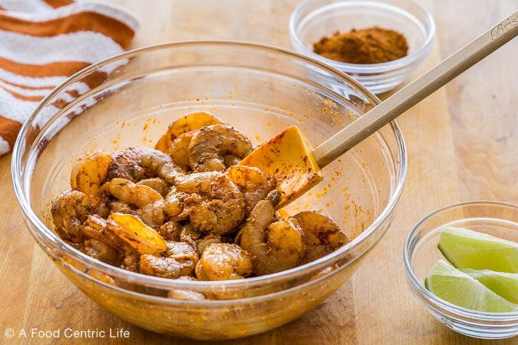 marinating shrimp for tacos|AFoodCentricLife.com