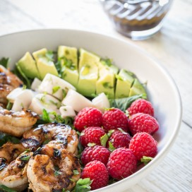 Grilled Shrimp and Avocado Salad|AFoodCentricLife.com