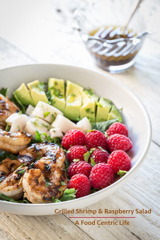 Grilled Shrimp and Avocado Salad | AFoodCentricLife.com