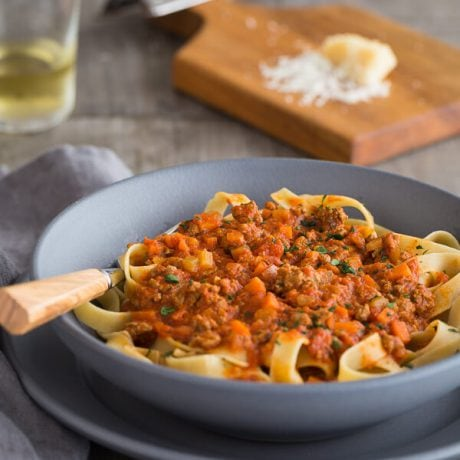 Bison Bolognese Meat Sauce | AFoodCentricLife.com