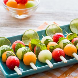 Melon Kabobs|AFoodCentricLife.com