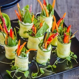 Zucchini Roll Ups with Goat Cheese|AFoodCentricLife.com