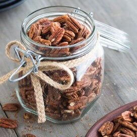 maple glazed pecans|AFoodCentricLife.com