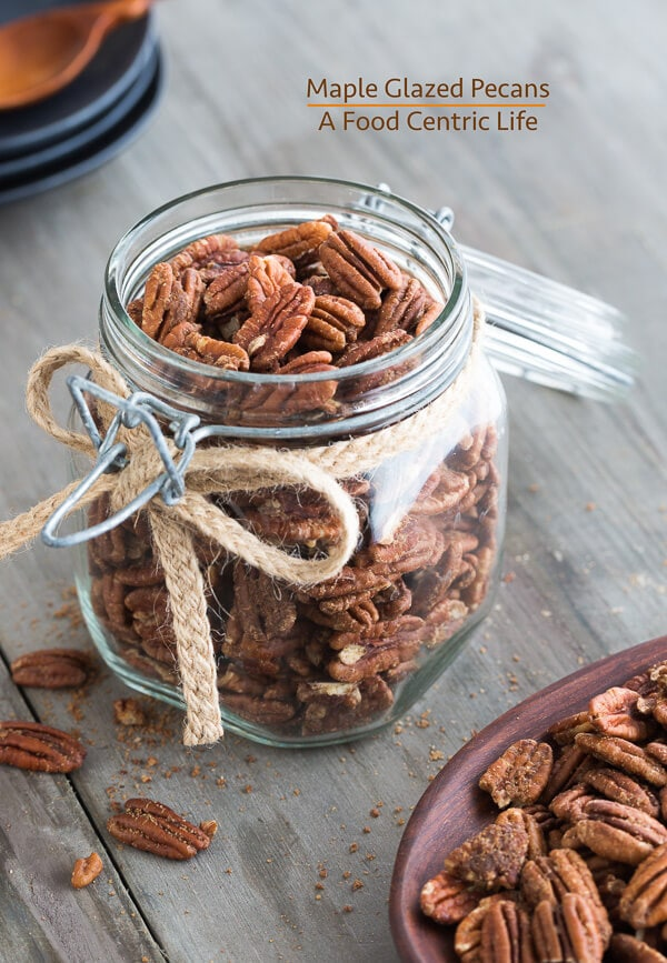 maple glazed pecans | AFoodCentricLife.com
