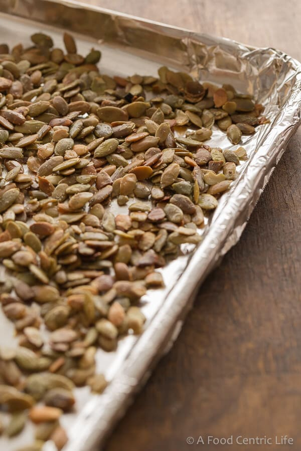 toasted pumpkin seeds | AFoodCentricLife.com